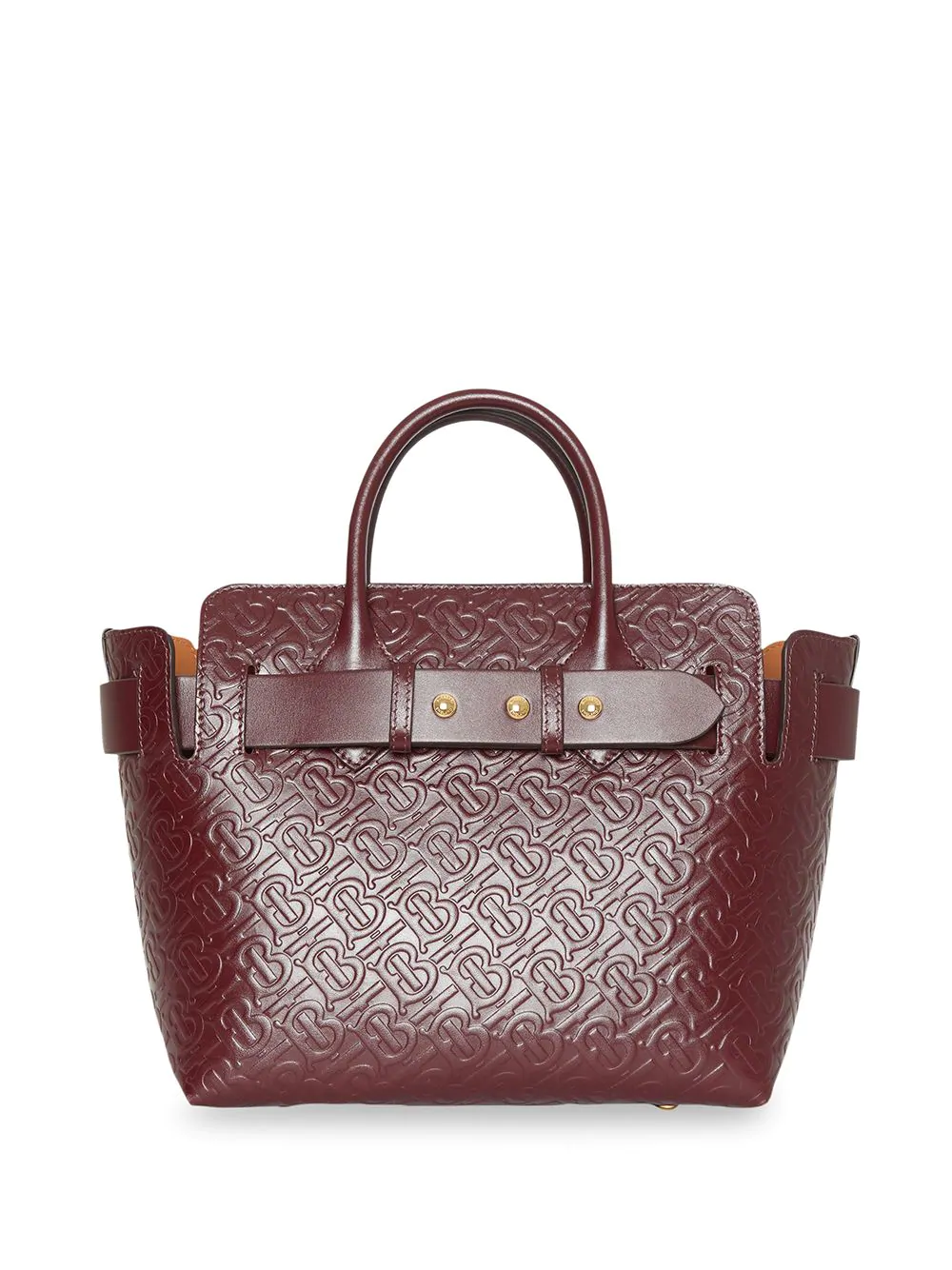 b0984354c5e0 Burberry The Small Monogram Leather Triple Stud Belt Bag In Red. Farfetch