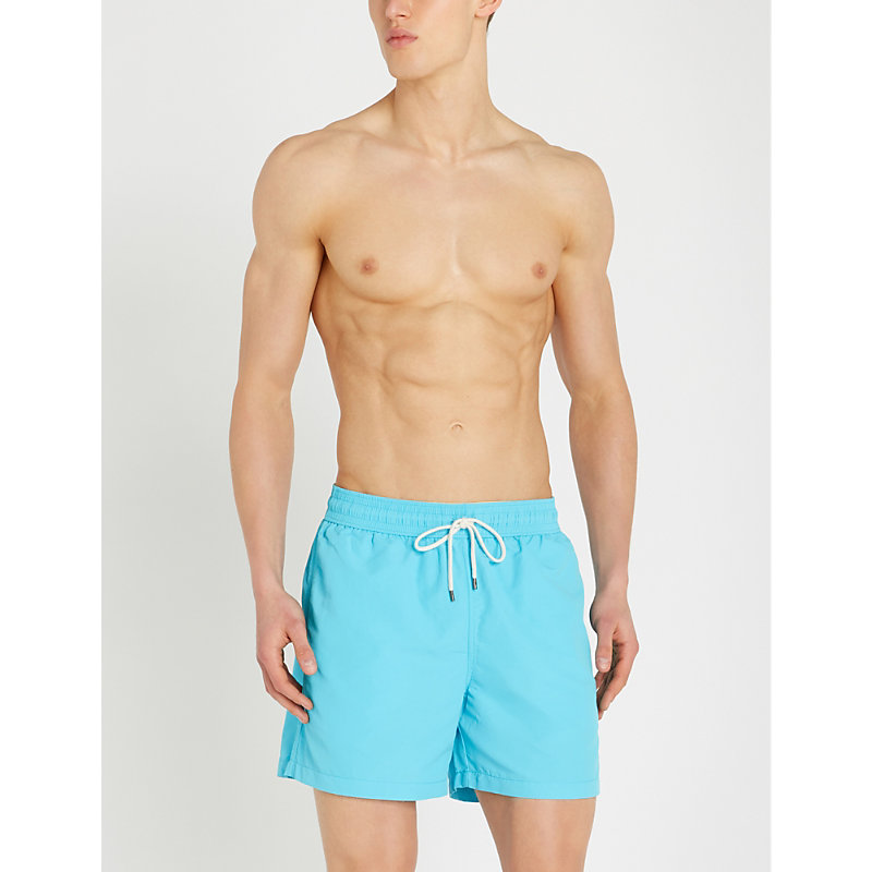 58fd7cf8a1 Polo Ralph Lauren Traveller Mid-Rise Swim Shorts In Liquid Blue ...