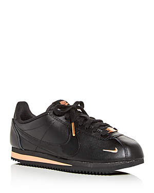 2c90ffdfc8f5 Nike Women s Classic Cortez Premium Low-Top Sneakers In Black  Black  Rose  Gold