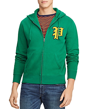 17e4ed55633a Polo Ralph Lauren Yale Patch-Front Fleece Hoodie - 100% Exclusive In Green
