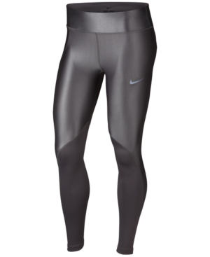 antepasado Azul Nublado  Nike Fast Running Leggings In Gunsmoke   ModeSens