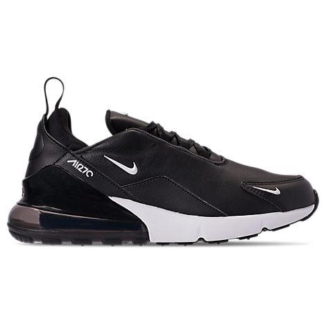 2f3bd929df970 Men's Air Max 270 Premium Leather Casual Shoes, Black