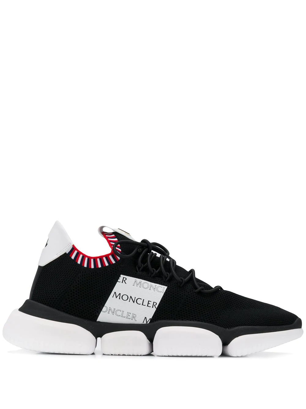 27248f3f3 Moncler Low Top Sock Trainers - Black | ModeSens