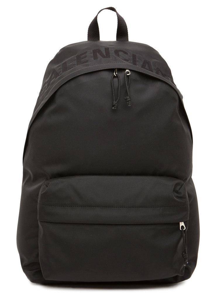031d245817 Balenciaga Wheel Logo Backpack In Black
