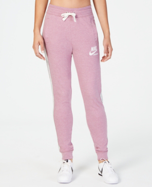 acb4b05a3e420 Nike Sportswear Gym Vintage Pants In Plum Dust/Grey Heather | ModeSens