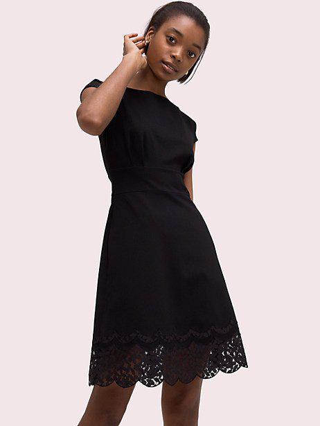 Fiorella Lace Trim Dress In Black