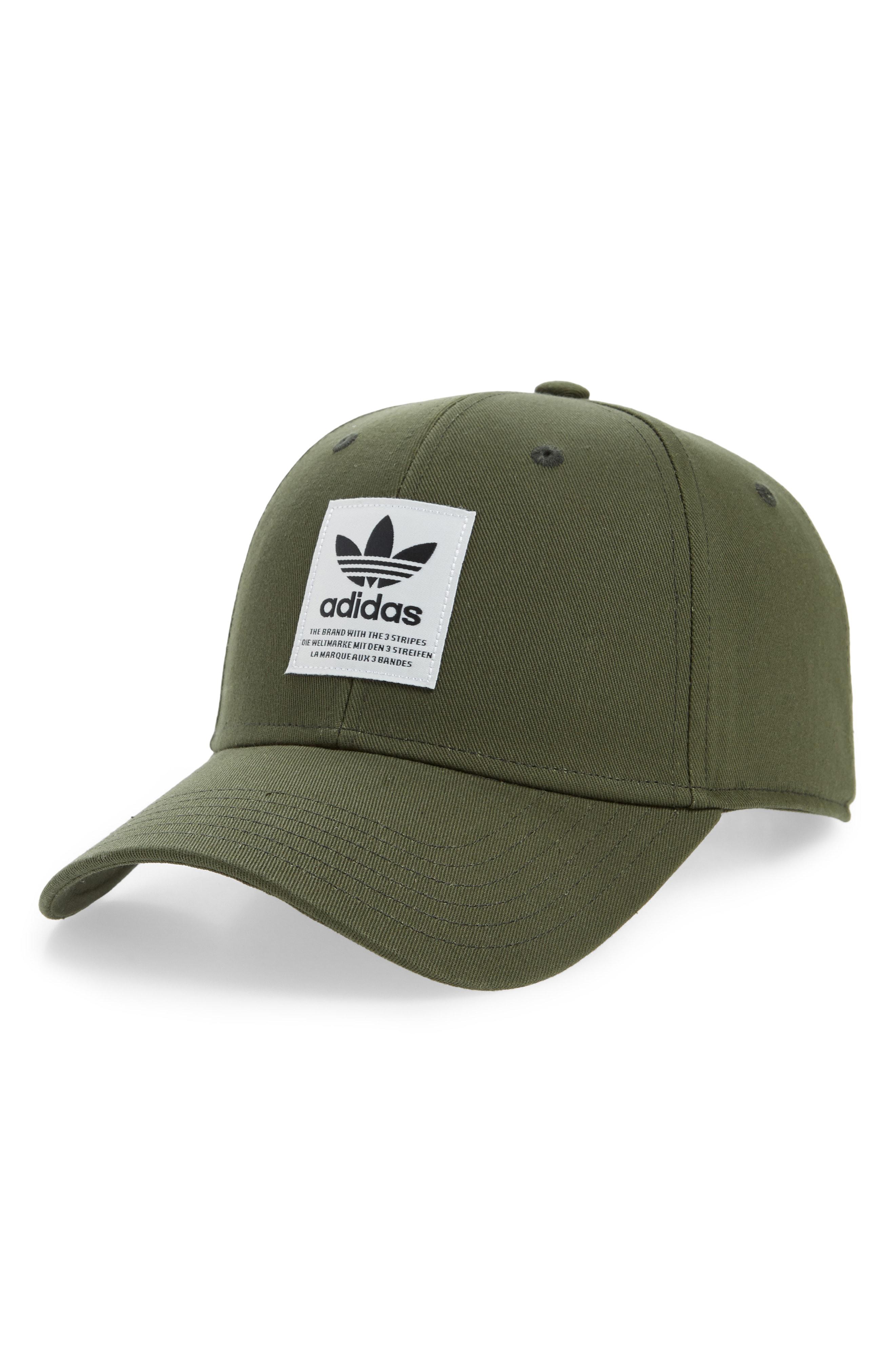 6caf22ca06d Adidas Originals Patch Baseball Cap - Green In Night Cargo  Off White  Black