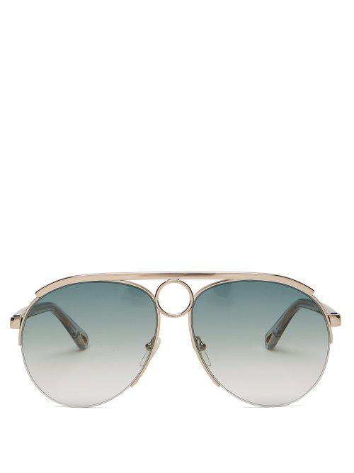ecc74e7e0ca ChloÉ Romie Aviator Sunglasses In Blue