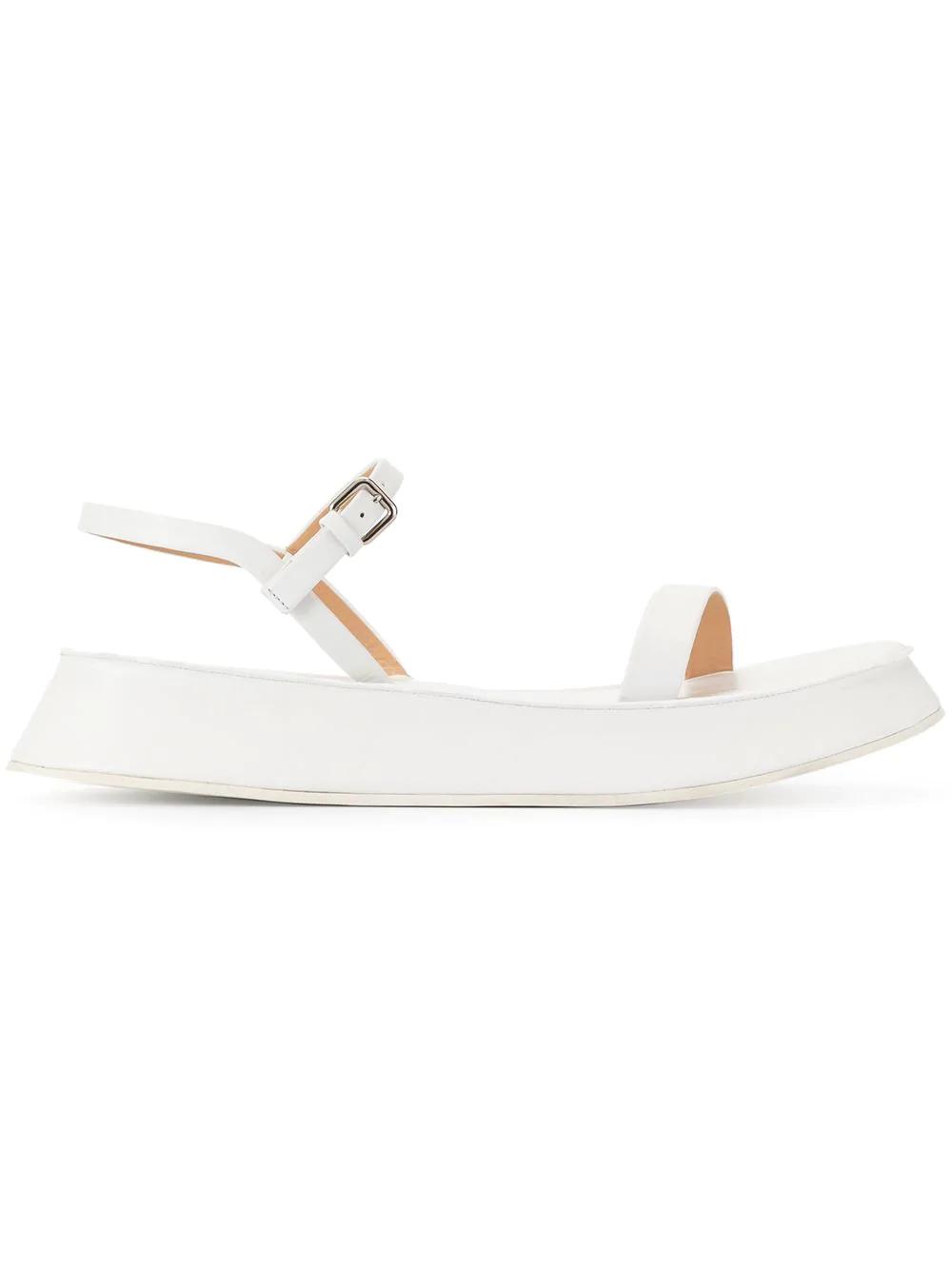 dfb449f69e Jil Sander Flatform Sandals - White | ModeSens