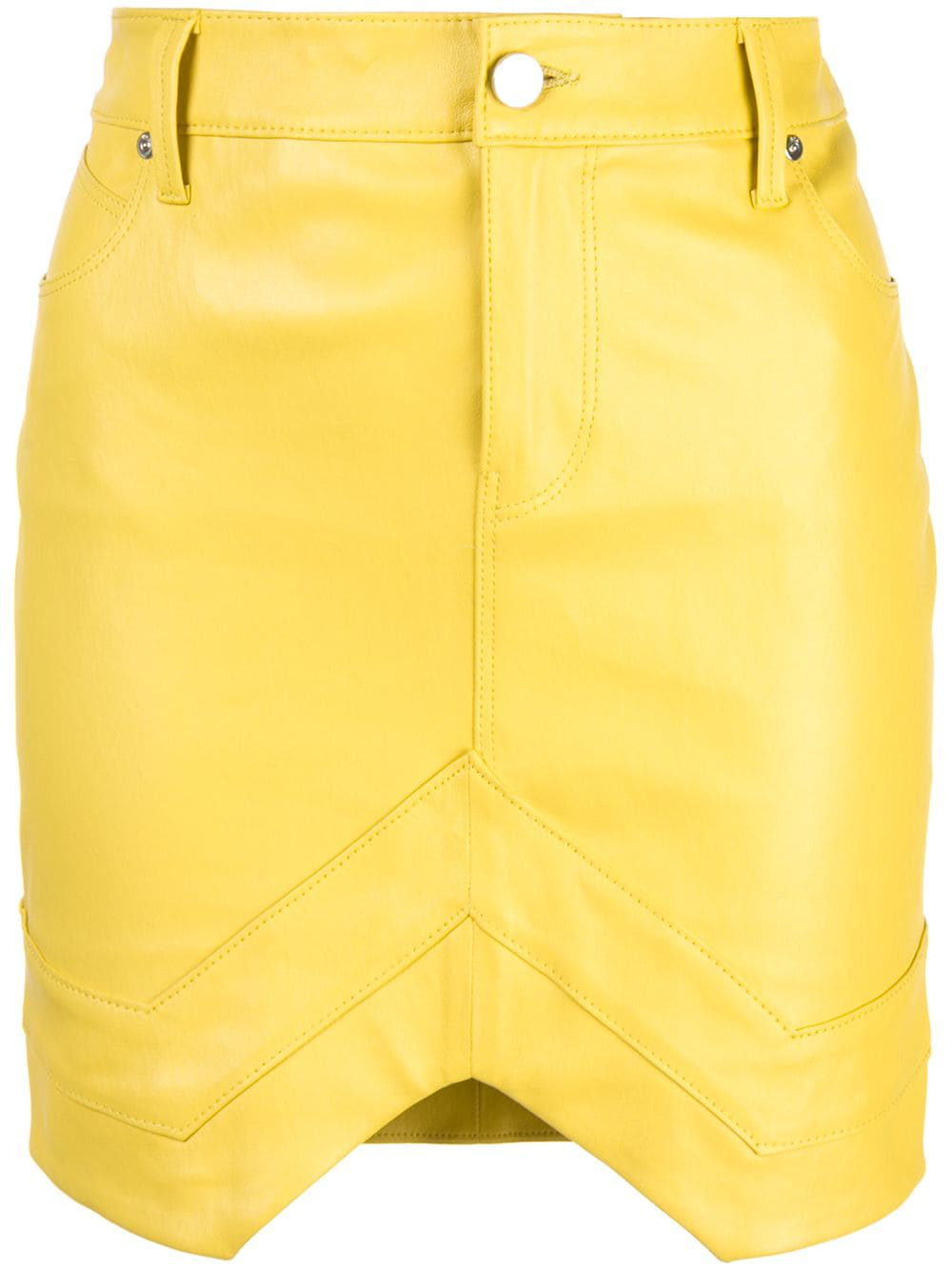 17786daca983 Rta Tempest Leather Mini Skirt In Yellow | ModeSens