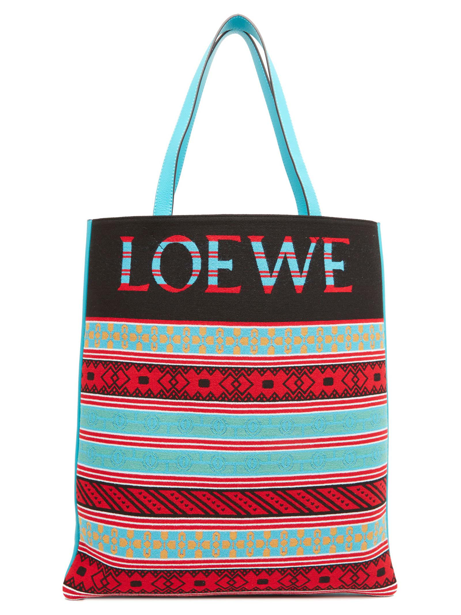 61e37fa3b20 Loewe Jacquard Knit Vertical Tote Bag - None In Stripe