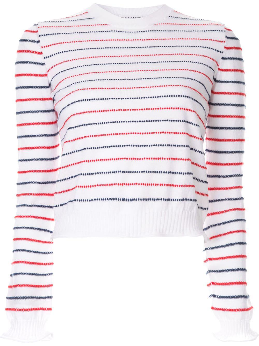 dc6b59b388 Sonia Rykiel Rykiel Striped Jumper - White | ModeSens
