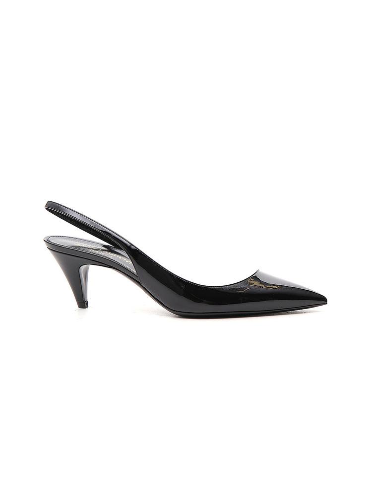 3534b315afd Saint Laurent Charlotte Slingbacks Fitted In Patent Leather In Black ...