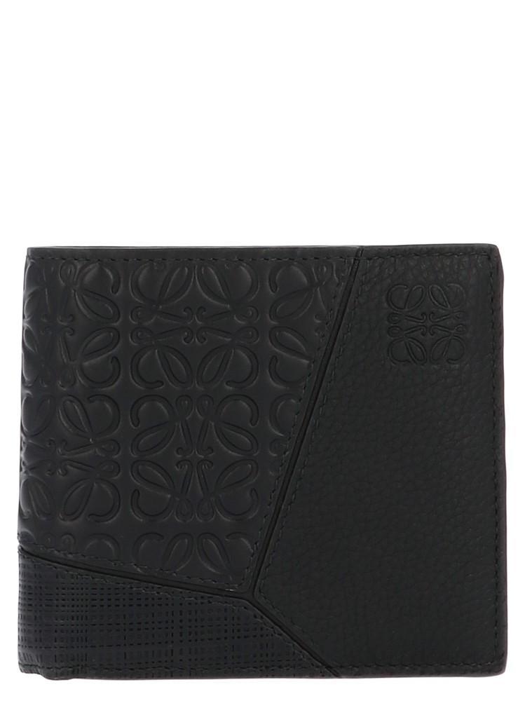 46daa90cd9433a Loewe Puzzle Grained-Leather Bi-Fold Wallet In Black | ModeSens