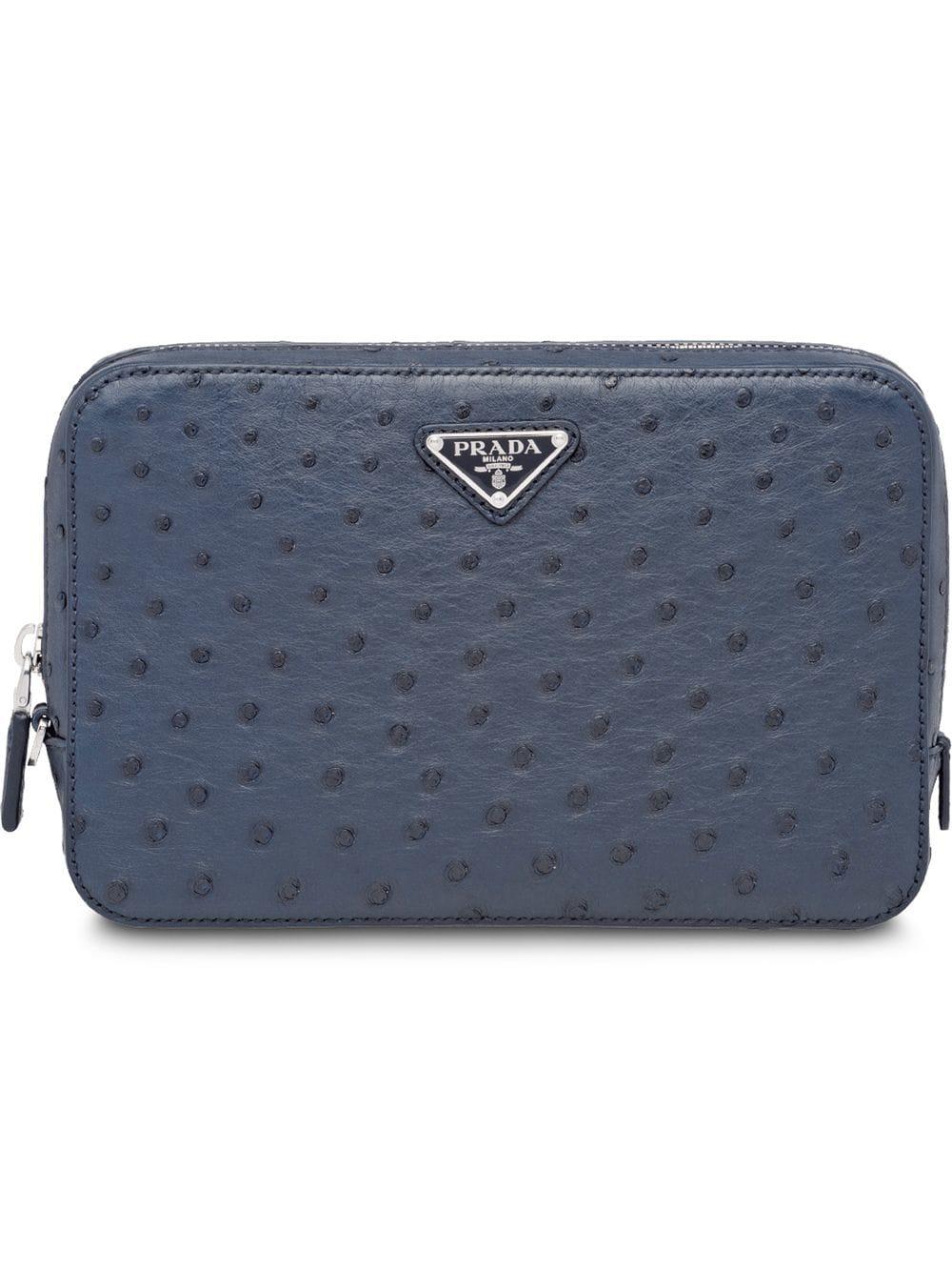 93fa9f85a358 Prada Pouch Bag - Blue | ModeSens