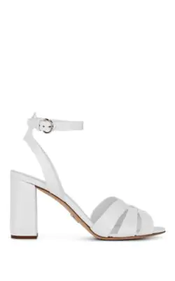 Leather In Prada Ankle BiancoModesens Spazzolato Sandals Strap J5T1F3lcuK
