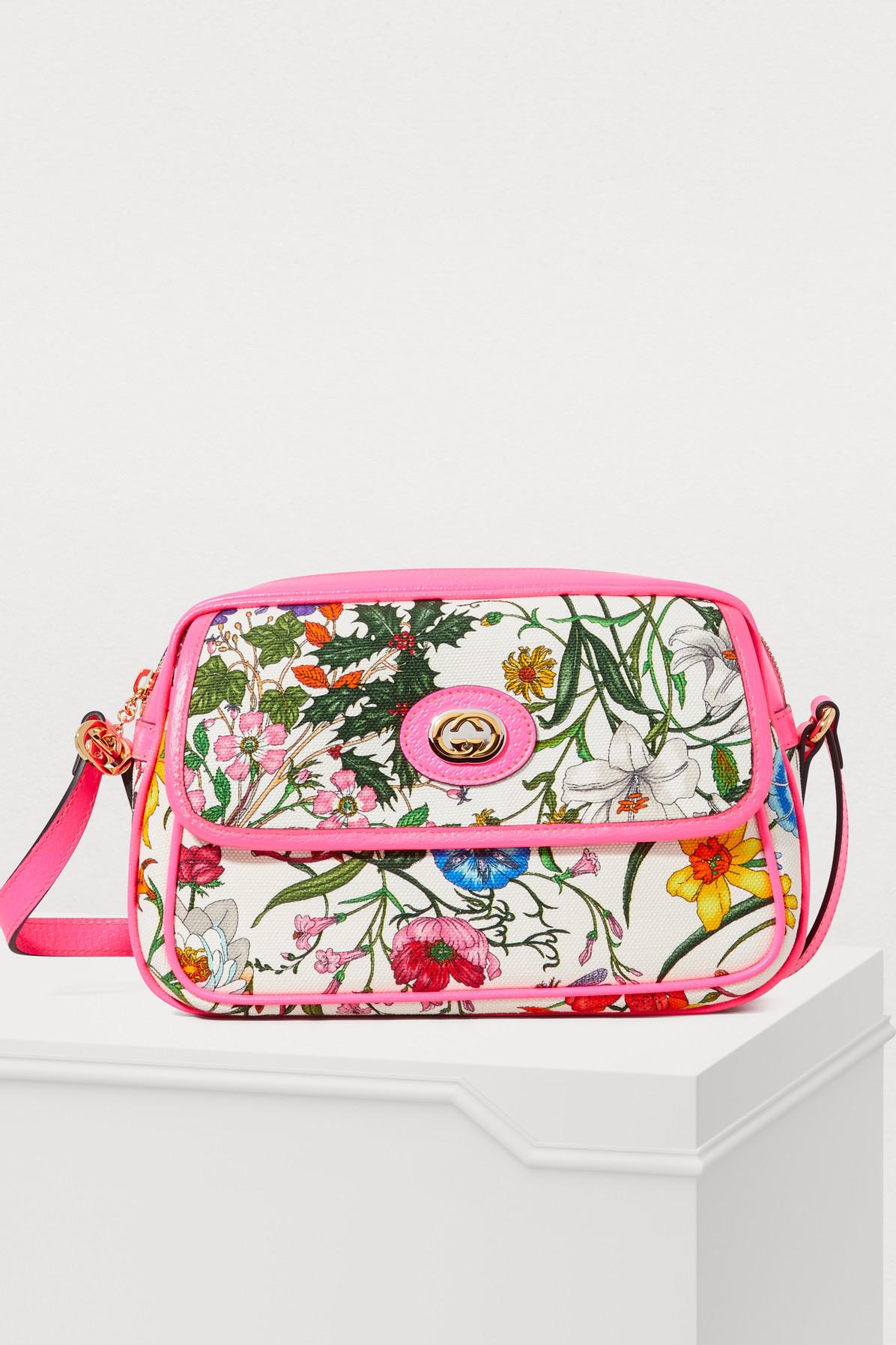 584b4e240f57 Gucci Flora Small Crossbody Bag In Pink   ModeSens
