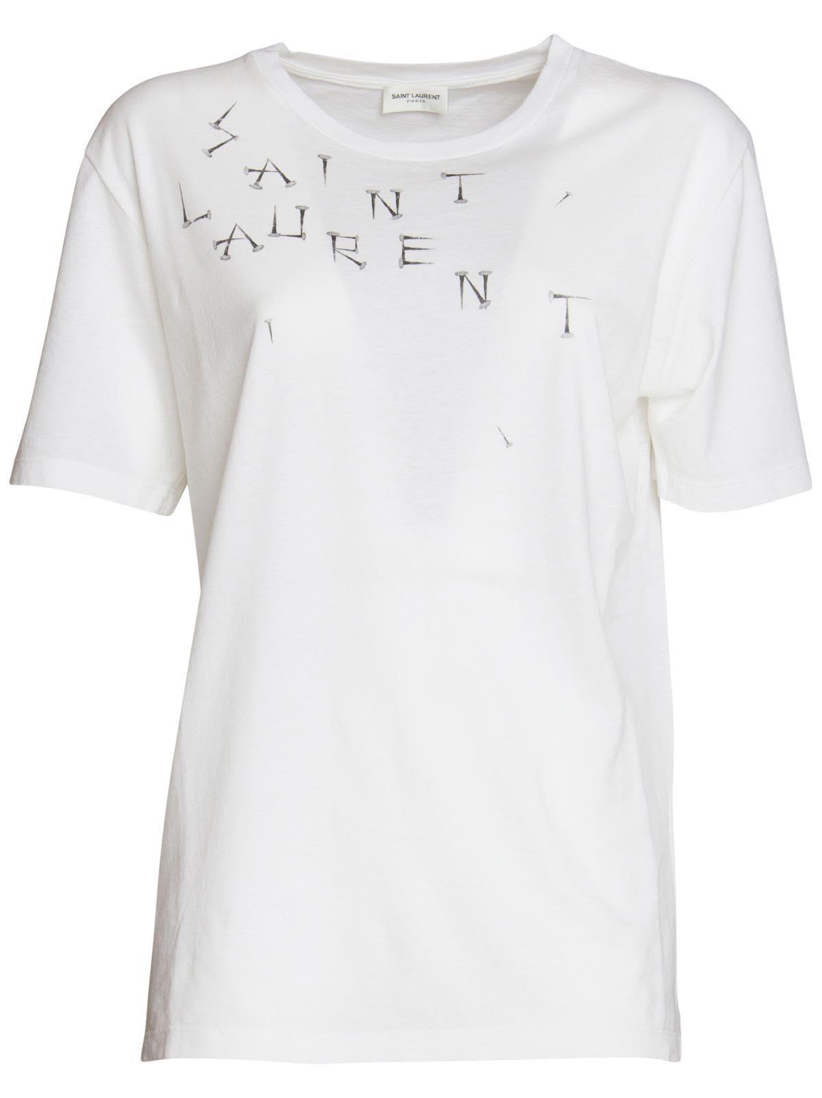 8b6c105092 Studs T-Shirt In White in Bianco