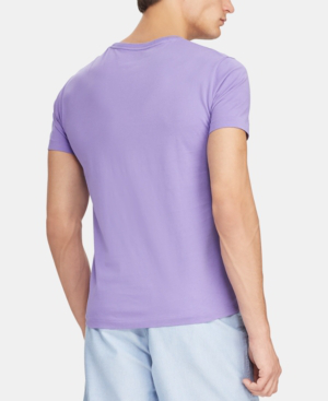 Shirt T In Crew Hampton Neck Men's Purple f7g6bYy