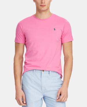 1ca3265e167 Polo Ralph Lauren Men's Crew Neck T-Shirt In Maui Pink   ModeSens
