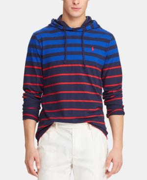 a7889d8bb7 Polo Ralph Lauren Men's Big & Tall Striped Hooded Long-Sleeve T-Shirt In