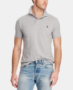 55fb8ebc Polo Ralph Lauren Men's Custom Slim Fit Mesh Polo In Soft Grey ...