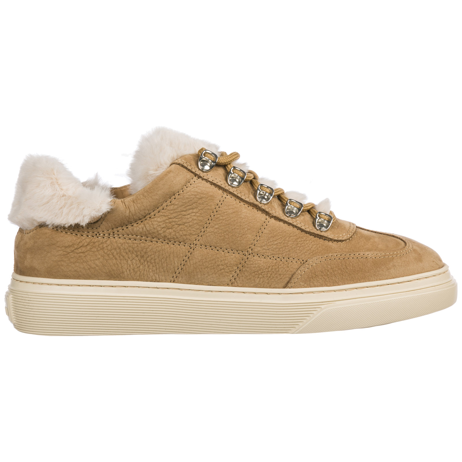3bef206c3fe Hogan Women's Shoes Leather Trainers Sneakers H365 In Beige | ModeSens