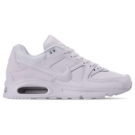 09244f7dd4 Nike Men's Air Max Command Leather Casual Sneakers From Finish Line In White /White/