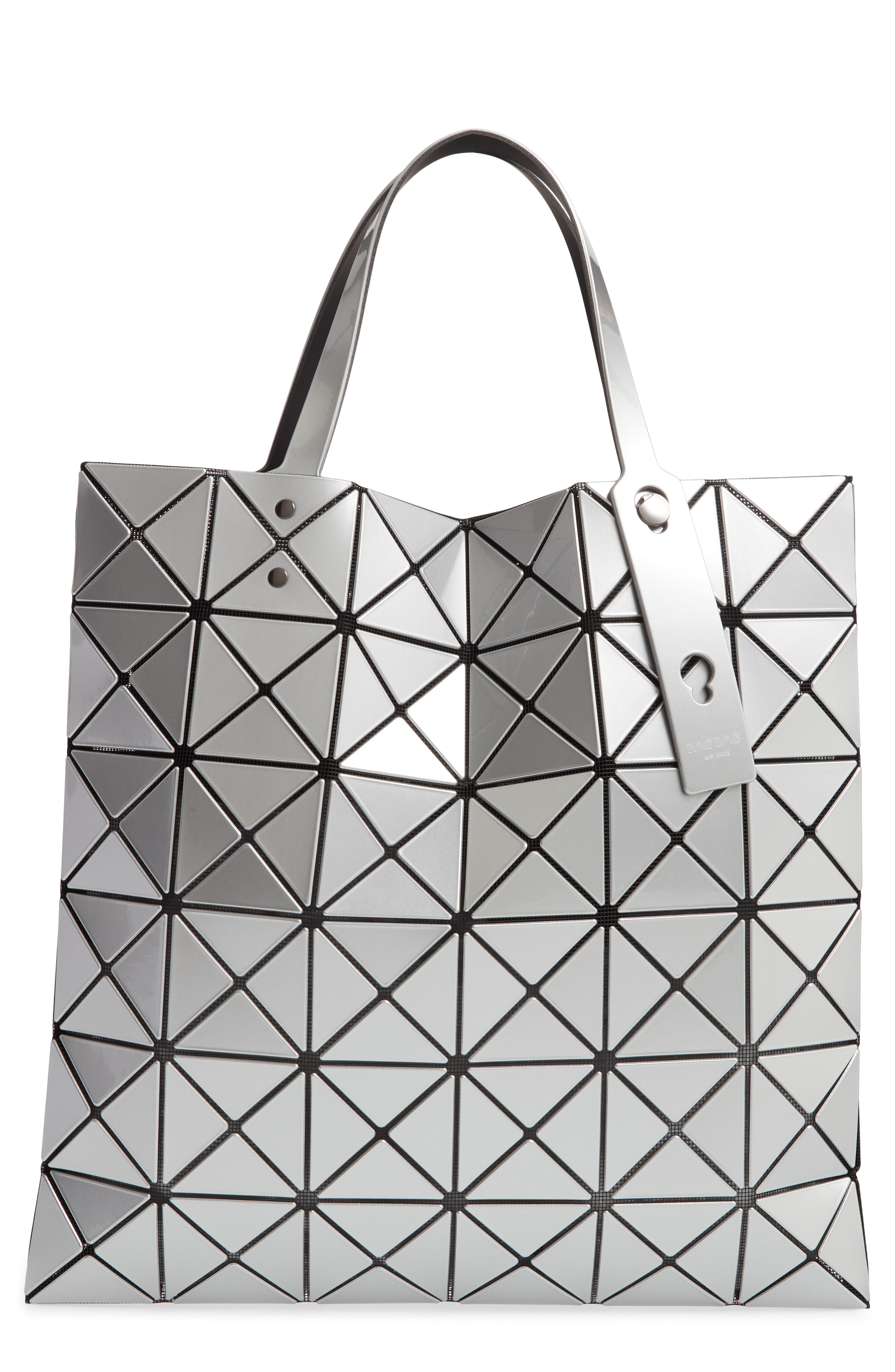 Bao Bao Issey Miyake Lucent Lightweight Collapsible Tote Bag In Silver 701189f2d276f