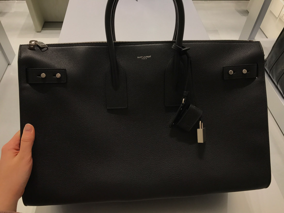 Saint Laurent Sac De Jour 48H Duffle Bag In Grained Leather In Black ... 6859843a7323b