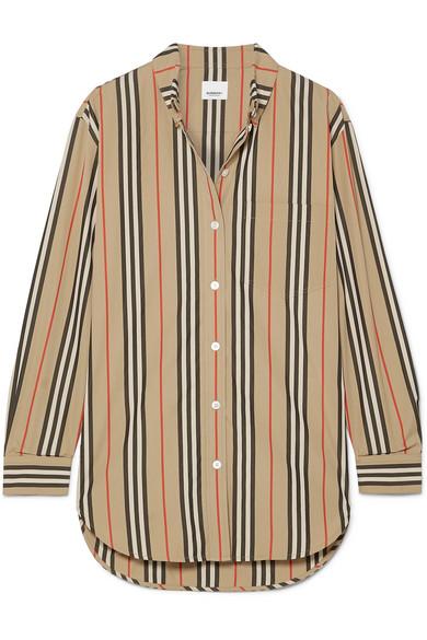 bfe2db564c7 Burberry Striped Cotton-Poplin Shirt In Beige
