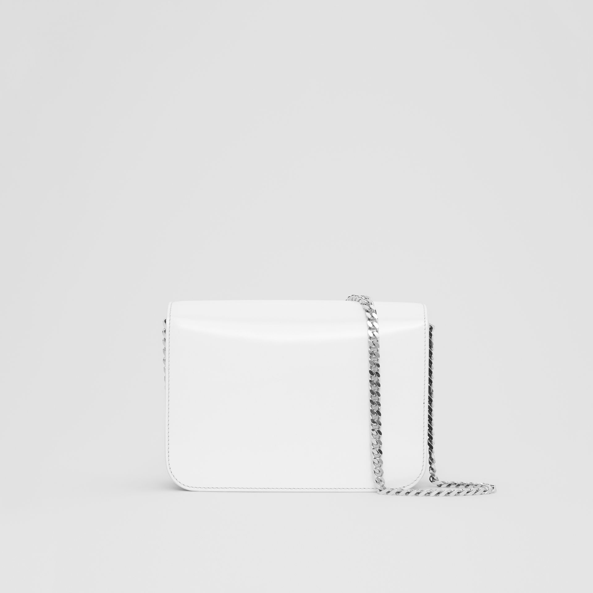 b6293fc014fd Burberry Small Logo Print Leather Tb Bag In Black White