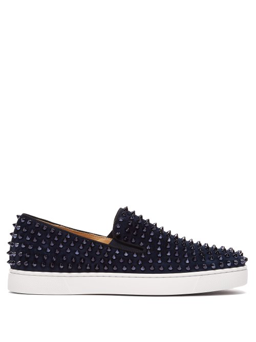 premium selection 172be 3a190 Roller Boat Spike-Embellished Slip-On Trainers in Blue