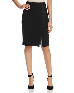 0eff96a1c T Tahari Lace Trim Pencil Skirt In Black | ModeSens