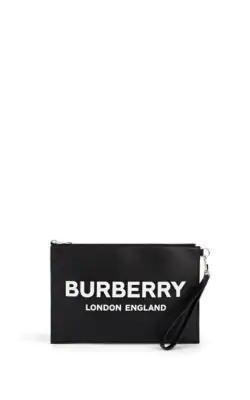 f470259bd39f Burberry Logo Print Zip Pouch In Black