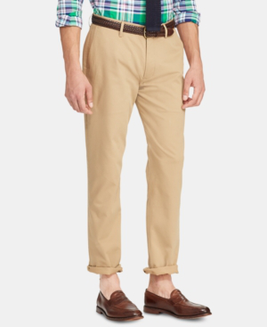 Classic Pants Stretch Men's Performance Luxury In Tan Fit Chino MpVGSqUz