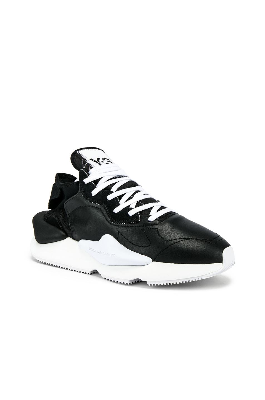 0dfb27d21 Y-3 Kaiwa Knit Sneaker In Black   White