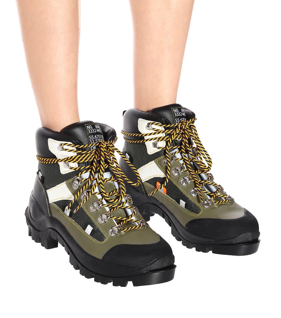 19b41da63f67 Ganni Bruna Leather Ankle Boots In Green