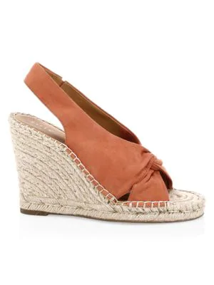factory price on sale elegant shoes Kaili Suede Platform Wedge Espadrille Sandals in Desert Red