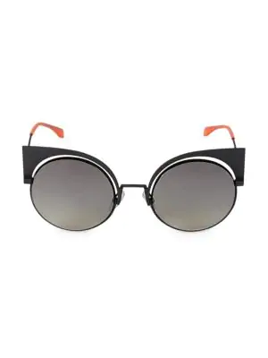 9ad8260aa79 Fendi 53Mm Mirrored Cat S-Eye Sunglasses In Multi