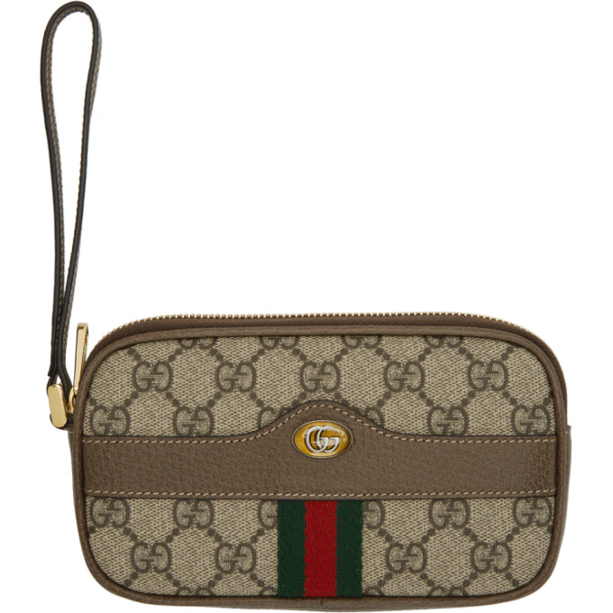 840391d773c5 Gucci Brown Gg Supreme Ophidia Iphone Case Belt Bag In Neutrals. SSENSE
