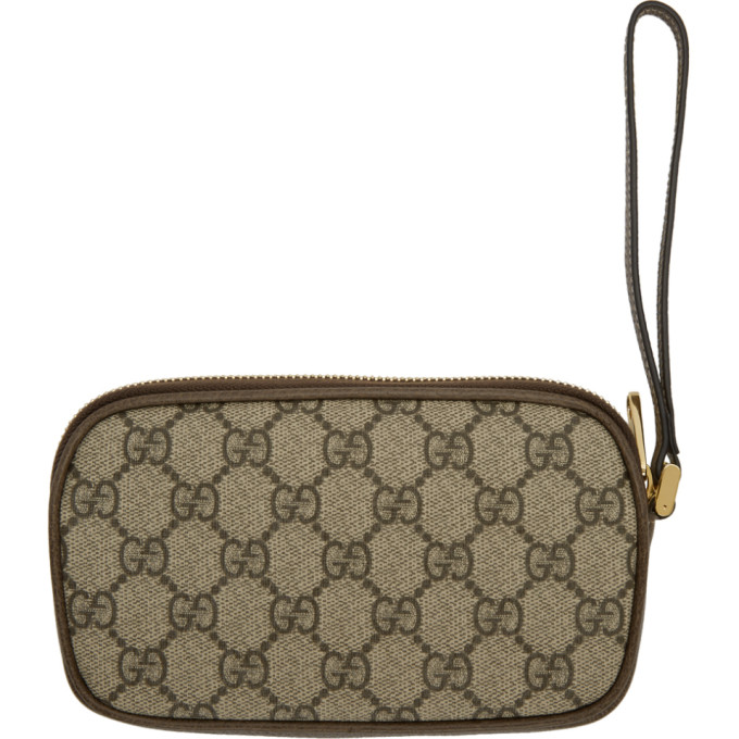 650b3743d688 Gucci Brown Gg Supreme Ophidia Iphone Case Belt Bag In Neutrals ...