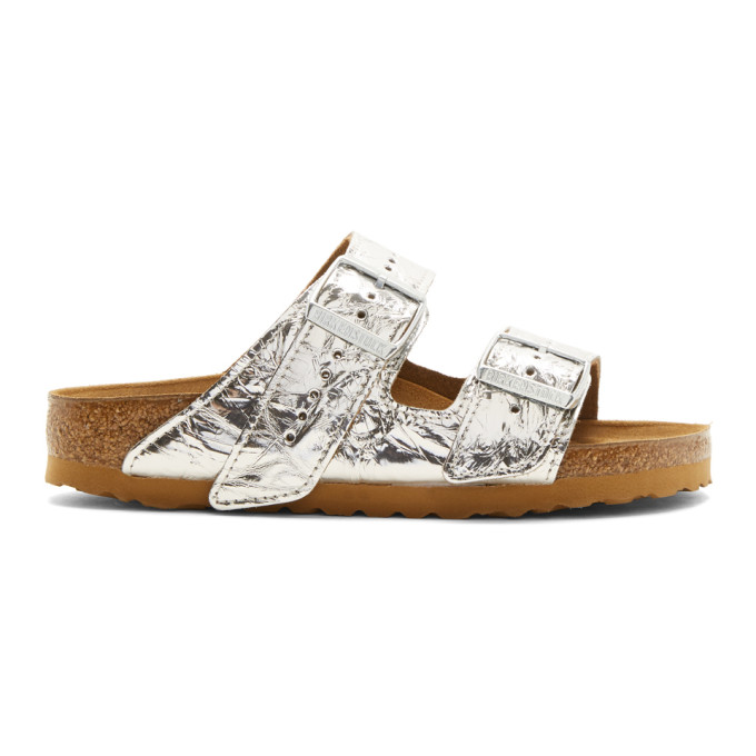 4ea6056e32 Rick Owens X Birkenstock Arizona Leather Sandals In Silver | ModeSens