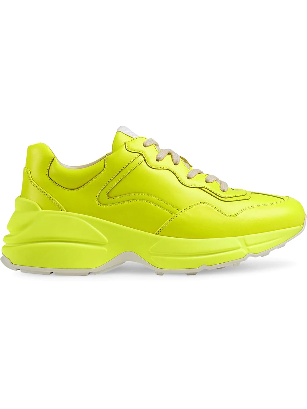 21dc75dfa01 Gucci Men s Rhyton Fluorescent Leather Sneakers In Yellow