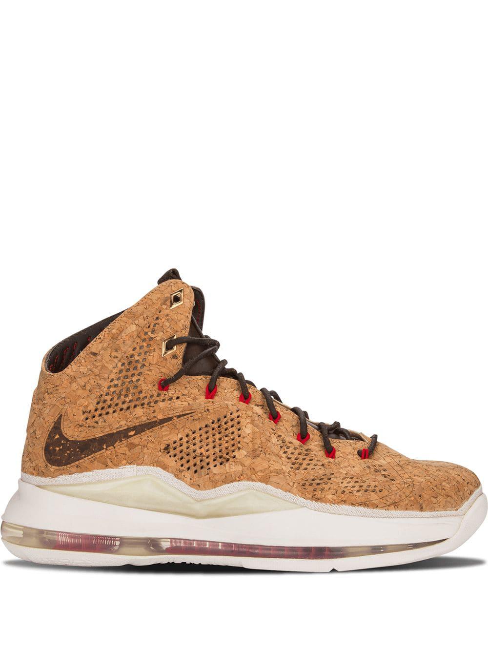 size 40 62f7e 05b62 Nike Lebron 10 Ext Cork Qs Sneakers - Brown