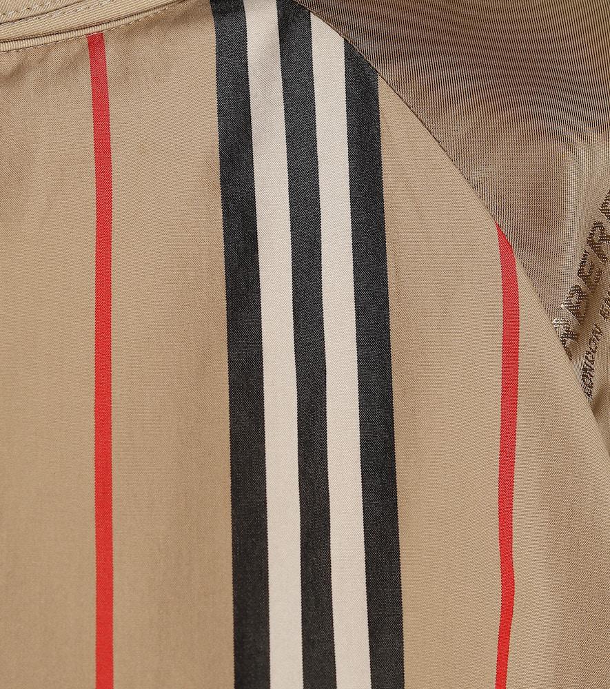 Burberry Baumwollbluse Mit Streifen Und Aussparungsdetail In Neutrals