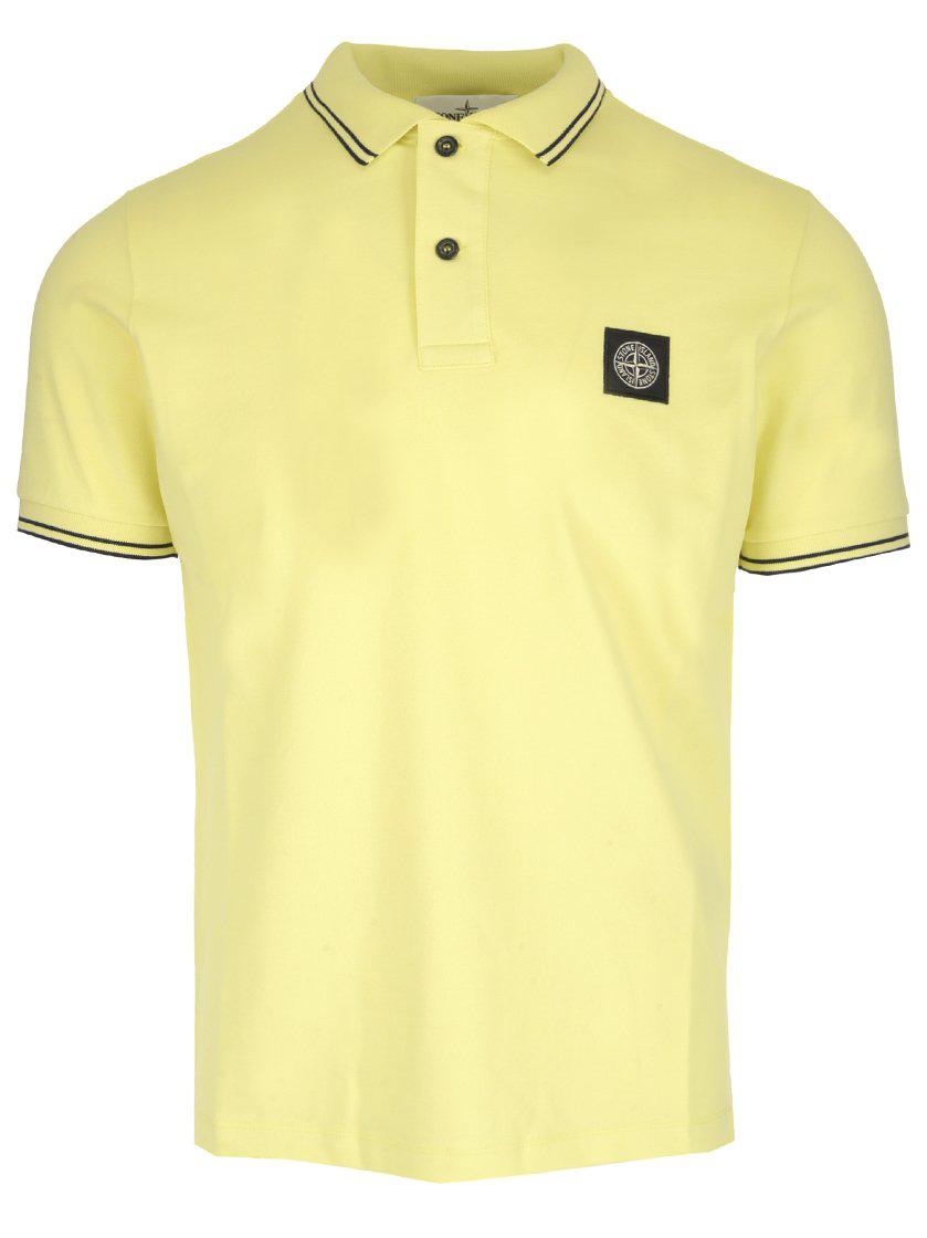 1c92a600de8 Stone Island Logo Polo Shirt In Yellow. CETTIRE