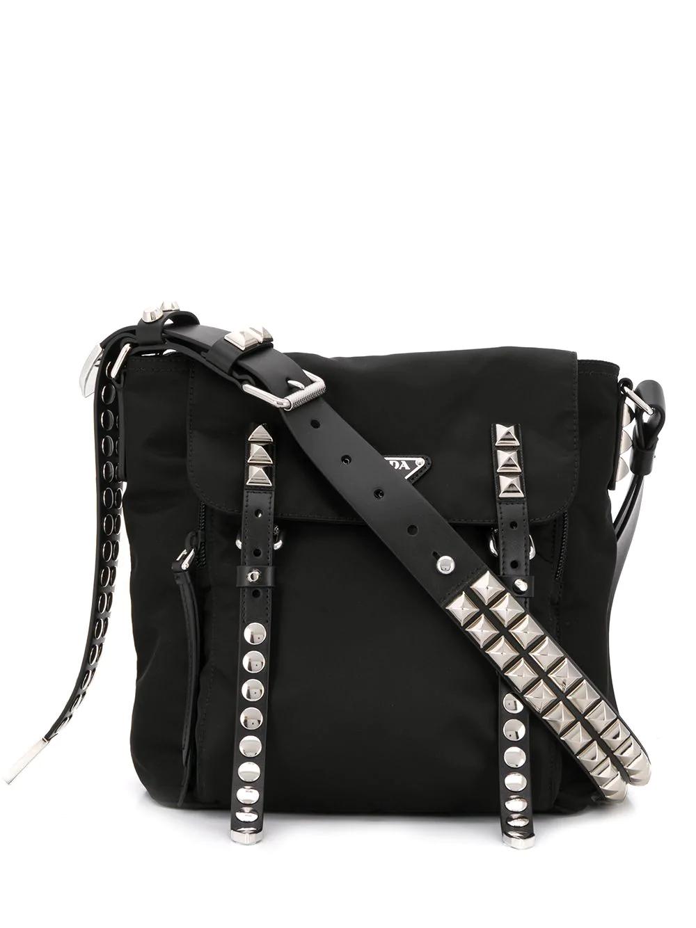 1ed21347edbf Prada Studded Shoulder Bag - Black | ModeSens