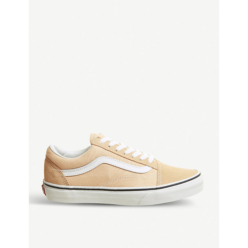 02bf247940 Vans Old Skool Canvas And Suede Trainers In Bleached Apricot