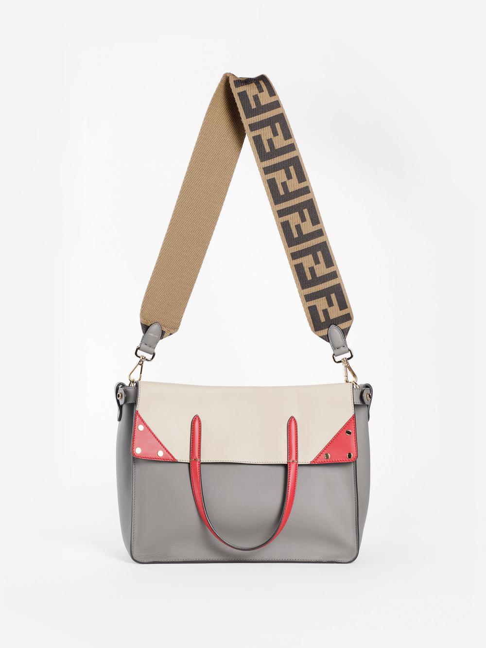 d59c5bc21cf8 Fendi Women s Grey Flip Large Bag